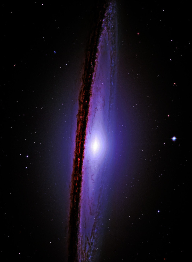 Hubble photo of Sombrero Galaxy.