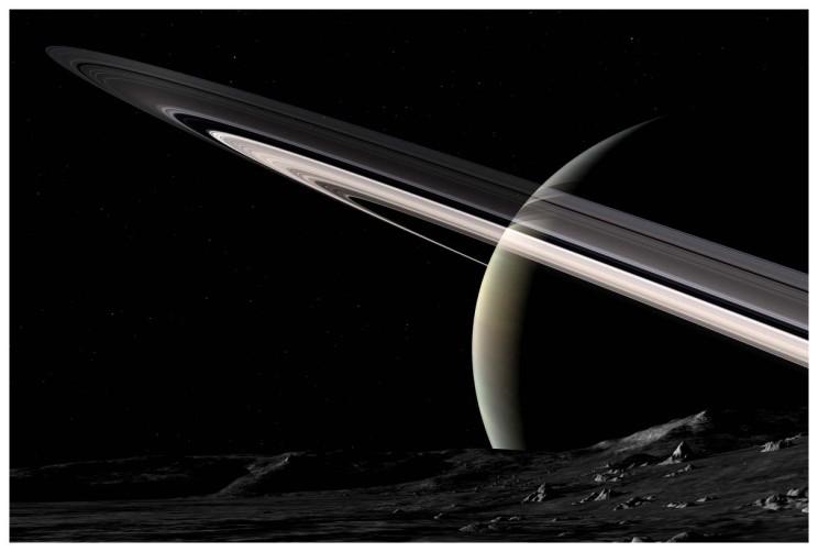 Mimas Dawn by Nick Stevens