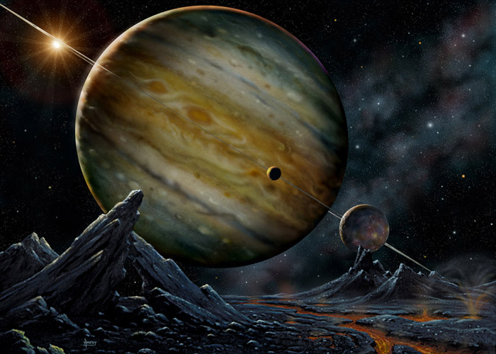Jovian HD 23079 - by David A. Hardy