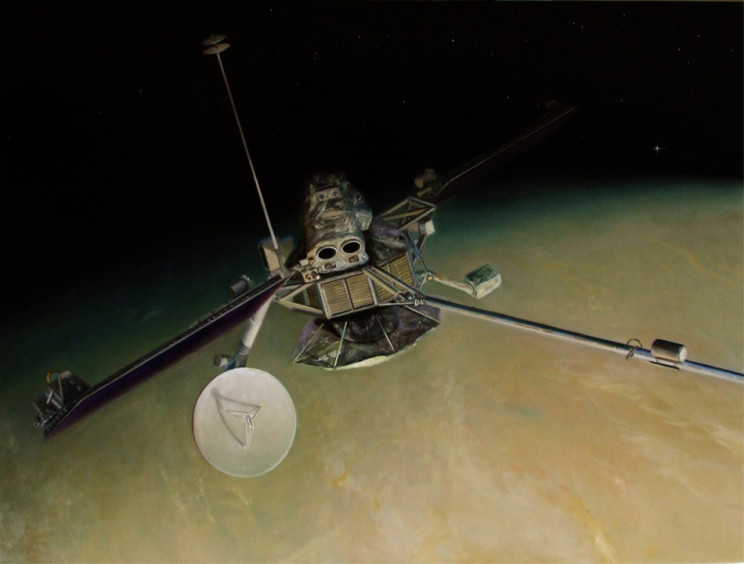 Mariner 10 Above Venus by John Clark