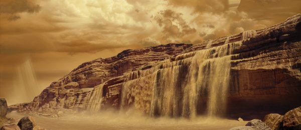 Titan's Flash Flood Falls