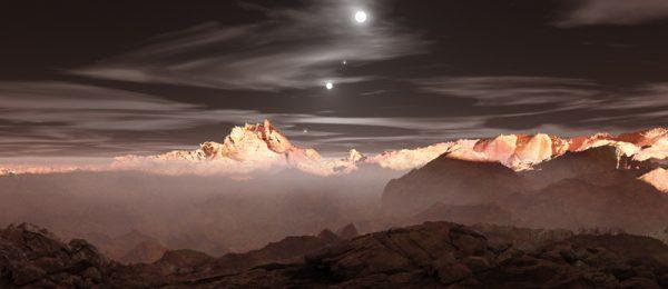 Sunset on TRAPPIST-1 b