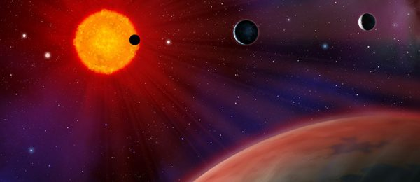 TRAPPIST-1 Planetary System as seen from space