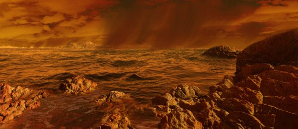 A squall on Titan