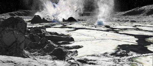 Hot spring on Enceladus
