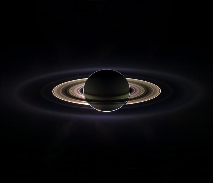 In Saturn's Shadow (NASA/JPL/Space Science Institute)